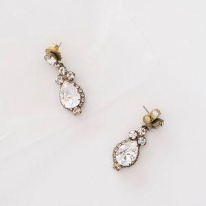 BHLDN Lettice Drop Crystal Earrings by Sorrelli OS